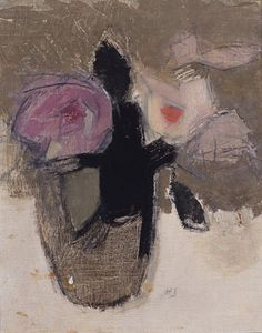 Helene Sofia Schjerfbeck 'Still Life with Flowers' (Nature morte avec des fleurs) 1944