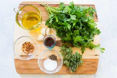 An Argentinean pesto sauce perfect with steak and seafood. Takes less than 10 minutes to make. How To Make Chimichurri, Cooking Websites, Flat Iron Steak, Steak And Seafood, Pesto Sauce, Pesto Recipe, Simply Recipes, Mexican Dishes, Sauces