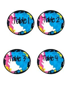 Rock Star Table Labels FREE