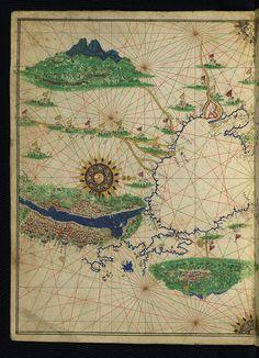 Illuminated Maritime atlas - Ottoman map