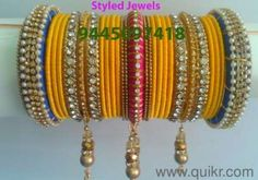silk thread bangles - Google Search