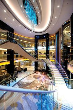 A shot of the main Atrium on the Azura
