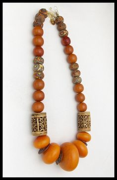 AMBER Handmade African Amber Ancient by sandrawebsterjewelry Bead Jewellery, Beaded Jewelry, Jewelery, Jewelry Necklaces, Beaded Necklace, Bracelets, Soutache Jewelry, Chunky Jewelry, Tribal Jewelry