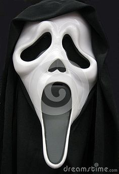 Closeup of a scary, spook mask to complete a Halloween costume.
