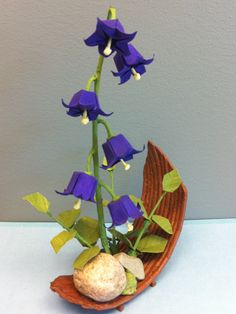 "Origami Bonsai - "" Purple Bells"" PRICE REDUCED. $60.00, via Etsy."