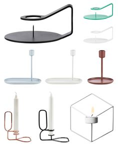 Modern candle holders with an old twist