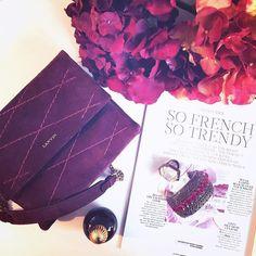 "LANVIN on Instagram: ""So French, So Trendy. Summer reads with her #LanvinSugarMini   #LanvinFW1516 #Lanvin #SummerMadame @madamefigarofr"""