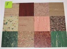"""These 50s Kentile flooring samples were recently on ebay. I bid on them all, but won just one set. Alas, I have been trying to cut back on building the """"Museum of Pittsfield"""" collection, as my oh-so-patient husband calls it. I'll tell you, I already have quite an exhibit ready to send cross-country. Aren't these …"""
