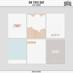 Free On This Day Journal Cards from Dunia Designs {August 2016 DigiScrap Parade}
