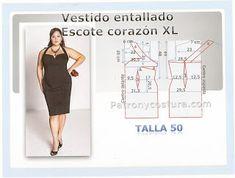 Black dress  Vestido escote corazón XL Tema 118 #talla50