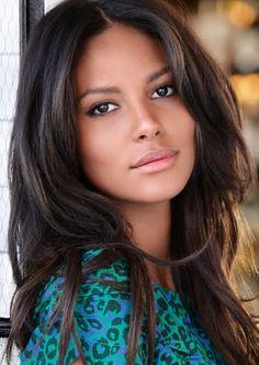 Emanuela de Paula - Beautiful Women with Amazing Long Brunette Hair.