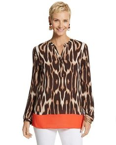 Chico's Chic Ocelot Lola Top #chicos