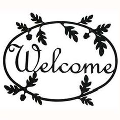 Wrought Iron Acorn Welcome Sign at Timeless Wrought Iron