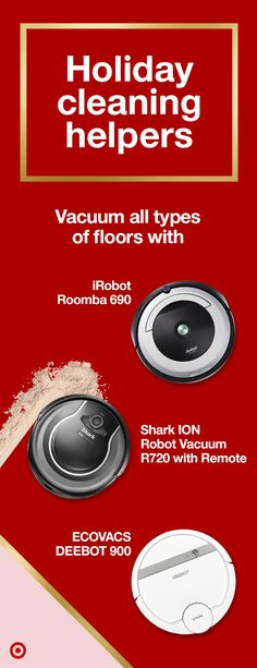 c40d82ecb0cd Get your home ready for holiday gatherings. Robotic vacuums roam through  your home to remove