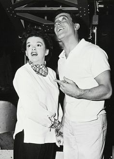 "Garland & Kelly on the set of ""Summer Stock"" (1950)"