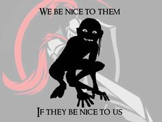 Lord of the Rings Gollum silhouette and quote