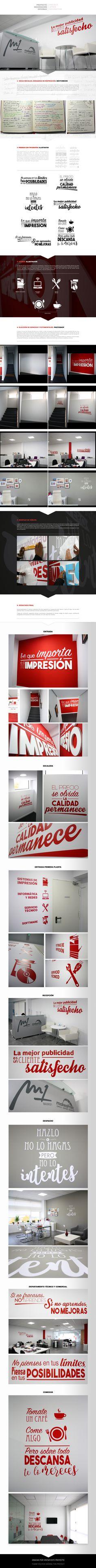 """Decoración de Oficinas de """"Make a Print"""""""