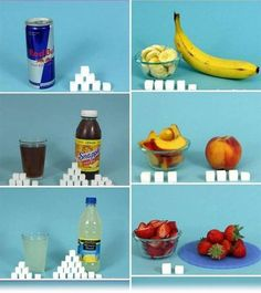 Community Post: The Amount Of Sugar In Food, Expressed In Sugar Cubes. Healthy Facts, Get Healthy, Healthy Tips, Healthy Recipes, Sugar In Drinks, How To Cure Gout, Low Fat Snacks, Sugar Cubes, Mindful Eating