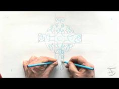 How To Draw A Celtic Cross Two Handed