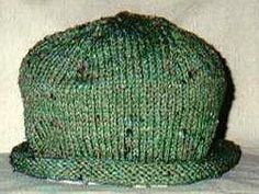 Knit Roll Brim Hat, worsted wt yarn, free