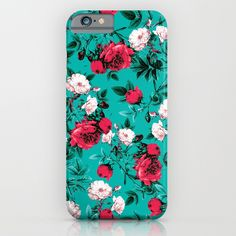 Check out society6curated.com for more! @society6 #floral #flowers #pattern #phone #case #phonecase #accessory #accessories #fashion #style #buy #shop #sale #cool #sweet #rad #awesome #fun #beautiful #beauty #pretty #botanical #iphone #products #product  #botanical #green #red #white