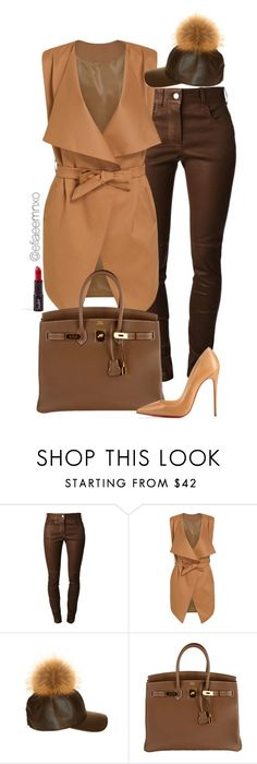 """Slayer"" by efiaeemnxo ❤ liked on Polyvore featuring Givenchy, Hermès and Christian Louboutin"
