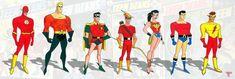 The New Teen Titans, Comic Art, Comic Books, Justice League Unlimited, Bruce Timm, Dc Comics, Ronald Mcdonald, Tv Shows, Character Design