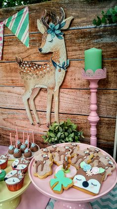 beautiful-deer-themed-baptism-ideas_06 Baptism Themes, Baptism Decorations, Baptism Ideas, Baby Shower Decorations, Girl Birthday Themes, First Birthday Cakes, First Birthday Parties, First Birthdays, Woodland Theme Cake
