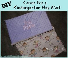 DIY Cover for a Kindergarten Nap Mat