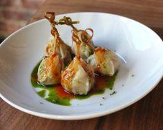 seared foie gras dumplings