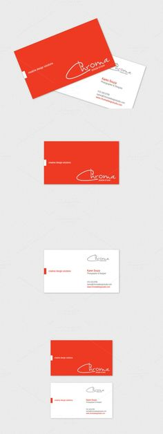 Chroma Business Card Template. Business Card Templates. $2.00