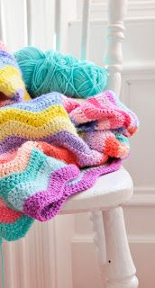 Helen Philipps - The colours in this ripple blanket make it really special!