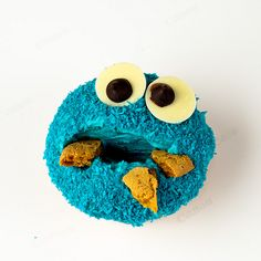 """""""all gone"""" cookie monster cupcake. Grey would LOVE. his fav."""