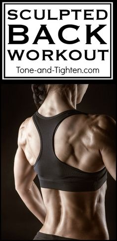 Amazing gym workout to sculpt noticeable back definition! From Tone-and-Tighten.com #BackWorkouts