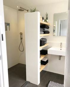 - Shower room - - # bathroom renovations - Badezimmer Re . - – Shower room – – # bathroom renovations – Badezimmer Re … Bathroom Interior Design, Interior Modern, Modern Interiors, Diy Interior, Bathroom Inspiration, Bathroom Ideas, Bathroom Showers, Bathroom Shelves, Cosy Bathroom