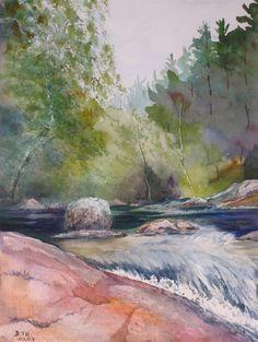 Watercolor painting by Debbie Homewood