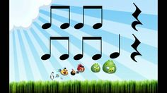 Play along rhythm: Angry Birds (Lectura rítmica) (+playlist) quarter, two eighths, and rest Angry Birds, Reading Music, Reading Practice, Middle School Music, School Videos, Piano Teaching, Music Activities, Elementary Music, Music For Kids