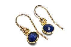Tiny Dyed Sapphire Tea Cup Earrings by Tina St John Jewelry