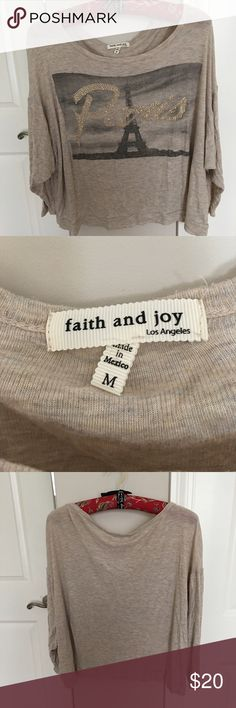 Paris. Faith and Joy Shirt Women's Top Tops