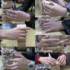 Why not have a picture collage of their hands