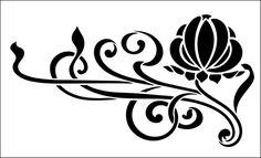Цветочные трафареты. Огромное кол-во !!!. Обсуждение на LiveInternet - Российский Сервис Онлайн-Дневников