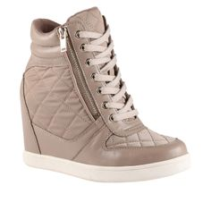 - women's sneakers shoes for sale at ALDO Shoes. Wedge Sneakers Style, High Heel Sneakers, Sneaker Heels, Wedge Shoes, Shoes Heels, Clogs Shoes, Beige High Heels, Nike Heels, Fancy Shoes