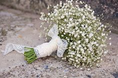 bridal bouquet ( buchet mireasa ) baby's breath | by SaraCreations