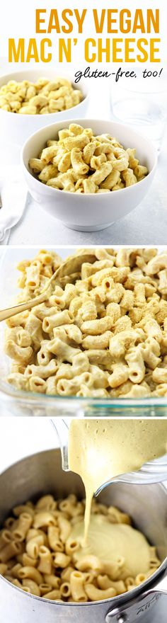 This is the BEST vegan cheese sauce I've ever tasted! It blends together while the pasta is cooking for a fast weeknight dinner. Dairy-free & Vegan, and GF when you use a gluten-free pasta. https://detoxinista.com/best-vegan-mac-n-cheese/