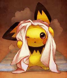 palehorse-palerider:    Day 7  Most adorable Pokémon   Pichu, cutest pokémon EVER