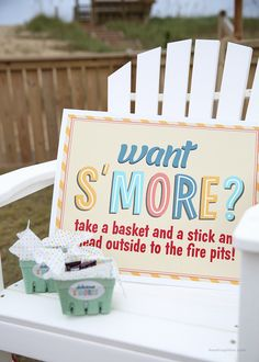 S'more party idea, photo by I Heart Nap Time #click #printableparty #averyatclick