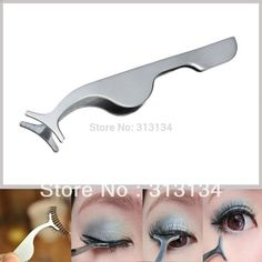 1pc New False Eyelashes curler Extension lash mascara Applicator Remover steel Tweezers Clip para Makeup Tool Hot gift