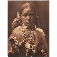 Early 20th Century Image of a Jicarilla Maiden by Edward Curtis | 1stdibs.com