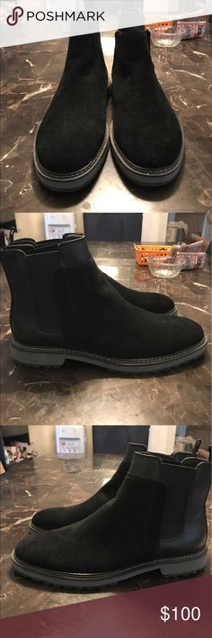 Calvin Klein Chelsea Boots Selling these Calvin Klein Chelsea boots, they're a size 10.5 far too big for me, they're brand new never worn. Doesn't come with original shoe box but I can put it in another one for you. The material of the shoes are Suede. Calvin Klein Shoes Ankle Boots & Booties