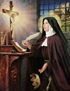 Catholic Saints, Roman Catholic, Ste Therese, Lives Of The Saints, Julius Caesar, Santa Teresa, Religious Images, Christian Art, Camilla